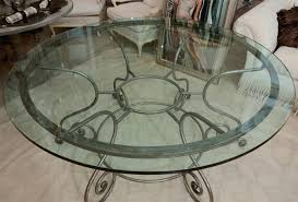 wrought iron dining table glass top outstanding dining room decoration with round glass top dining table