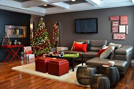 exquisite design black white red. Exquisite Contemporary Livingroom Black Side Table With Red Tray And White Throw Pillow Gray Wall, Christmas Decorations. Design