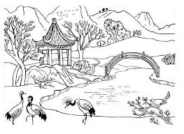 Small Picture Free Coloring Pages Nature Scenes Coloring Pages