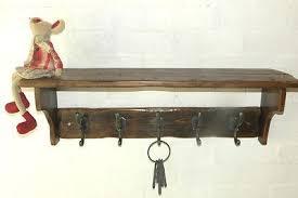 Vintage Style Coat Rack Reclaimed wood Hat and Coat Rack with shelf and Adison hooks Cottage 89