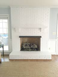 painted white brick fireplacePainting Our Brick Fireplace White  Emily A Clark