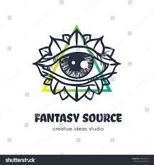 Eye Logo Design Ideas Stylized Eye Providence Vector Logo Design Stock Vector