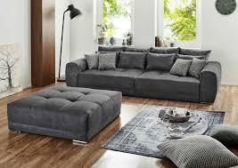 Big Sofa Xxl Couch Wohnzimmercouch Dunkelgrau Microfaser