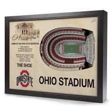 ohio state buckeyes stadiumview 3d wall art ohio stadium