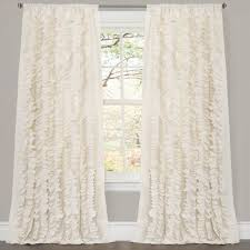 Lush Decor Belle Curtain, 84 x 54-Inches, Ivory