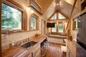 A Tiny House With A Sauna Hope Island Cottages - Tiny house on wheels interior