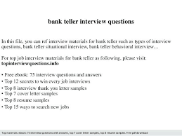 Head Teller Cover Letter – Resume Pro