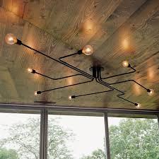 modern industrial lighting. Vintage Ceiling Lights 8 Heads Retro Industrial Lamparas De Techo Restaurant Loft Modern Lamp Bar Cafe Dining Room Light-in From Lighting 2