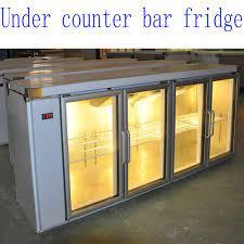 counter bar fridge of 3 glass doors