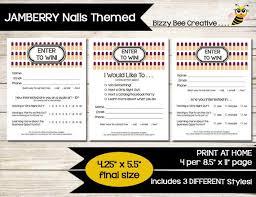 Nails Enter To Win Door Prize Drawing Slip Raffle Ticket Contest Form Guest Survey Vendor Event Direct Sales
