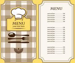 Restaurant Menu Card Template Free Vector Download 29 345