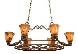 avondale 6 light pot rack with down lights