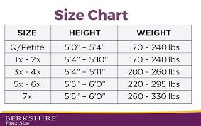 Us Plus Size Chart Berkshire Stockings Size Chart Www Bedowntowndaytona Com