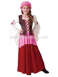 Victorian Edwardian Little Nell Tavern Girl New Fancy Dress Costume For  Kids BC17155