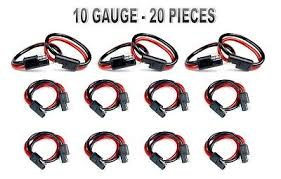 audiopipe 12 10 gauge 2 pin quick disconnect polarized wire 20 pieces 10 ga 12 quick disconnect polarized inline power cable wire harness a