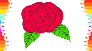 Small Picture How to Draw Rose for Kids DIY Coloring Pages Art for Kids Step