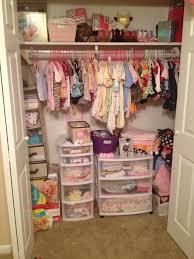 I'm very proud of my newborns nursery closet. I organized it with plastic
