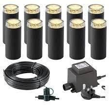techmar linum garden lights bundle 10