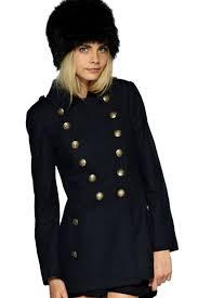 retro double ted woolen coat