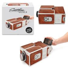 smartphone projector diy cardboard mobile phone projector portable cinema 1 of 4 see more