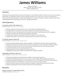 Dental Assistant Resume Sample Resumelift Com