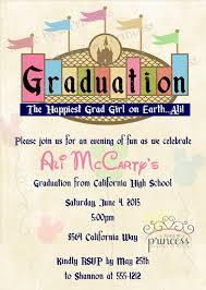 Vintage Disney Graduation Printable Invitation