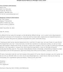 Cover Letter For Hr Advisor Job Sample Cover Letter Human