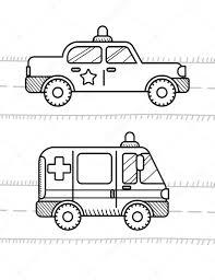 車は子供のためのぬり絵の本 ストックベクター Soniaeps 105256822
