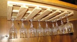under the counter wine glass holder wine glass stemware wood holder rack under cabinet bar new