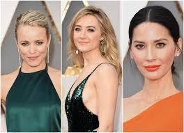 sydne style shows oscars 2017 makeup trends emerald orange rachel mcadams saoirse ronan olivia munn