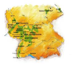 Крепкие алкогольные напитки и вина Германии Краеведение  Винодельческие регионы Германии карта Виноградники обозначены зеленым цветом