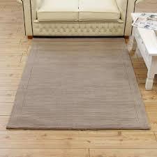 taupe unpatterned rug large wool plain