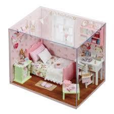 Doll House DIY Handmade Wooden Miniatura Furniture 3D Miniature Dollhouse Toys Lover Girlfriend Valentine Gifts Sunshine 640x640