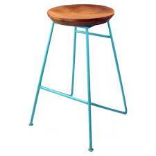 wood metal bar stools. Light Blue Metal Bar Stool With Solid Wood Seat Stools