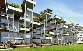 This fantastic design offers compact apartments ...
