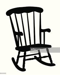 rocking chair silhouette. Rocking Chair Vector Silhouette : Art Getty Images