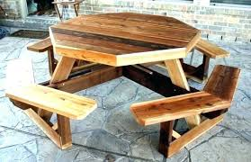 full size of outside wooden table and bench set round garden picnic chairs tables for
