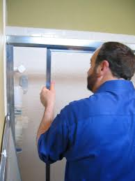 how to replace shower doors