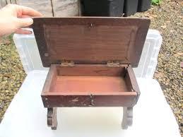 secret storage box small vintage wooden stool bench seat secret compartment storage box kids old secret