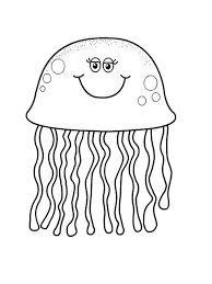 Small Picture pretty eyes jellyfish coloring page Download Print Online