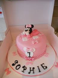 13 Baby Minnie Mouse Birthday Cakes Photo Baby Minnie Mouse 1st