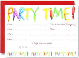 children party invitation templates card birthday invitations birthday card invitation template free