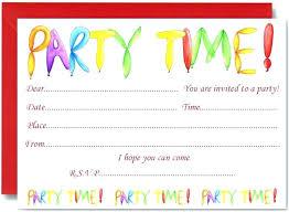 children party invitation templates card birthday invitations birthday card invitation template free