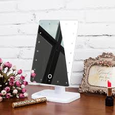 l207 led touch screen makeup mirror portable 20 leds lighted make up cosmetic mirror adjule vanity tabletop countertop mirror