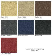 Faux Color Chart Spt Faux Leather Iron Gray