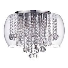 bathroom ceiling light chrome glass free delivery