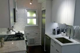 Custom Kitchen Cabinets Nyc Small Kitchen Room With Refrigerator Also Red Wall Decorating Also