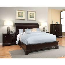 Abbyson Living Sydney Piece Espresso Wood Bedroom Set - Sydney bedroom furniture