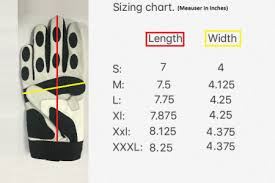 Batting Glove Size Chart Batting Gloves Sizing Chart Vukgripz Get Sized Up And