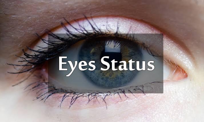status on eyes for whatsapp